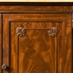 An early Victorian two-door mahogany side cabinet, attributed to Gillow detail