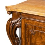 An early Victorian two-door mahogany side cabinet, attributed to Gillow side detail
