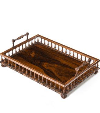 A Regency rosewood book tray attributed to Gillows,