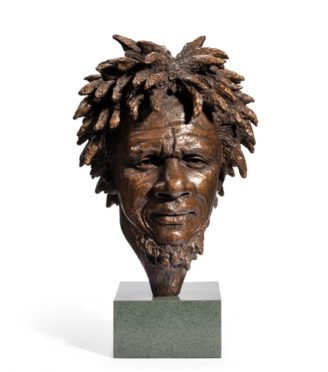 bronze bust of 'Dougie' by Vivian Mallock