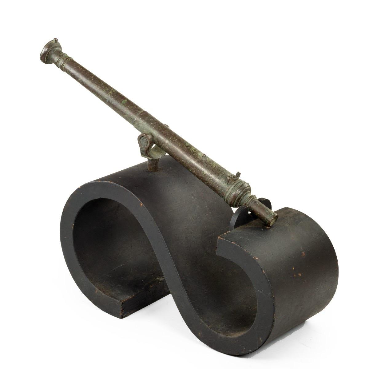A late 18th century bronze Lantaka cannon