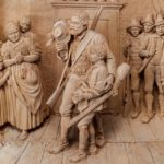 Tyrolean lime-wood carving detail