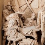 Tyrolean lime-wood carving Black Forest detail