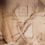 Tyrolean lime-wood carving Black Forest details