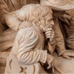 quality walnut-framed Tyrolean lime-wood carving