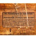 quality walnut-framed Tyrolean lime-wood carving label