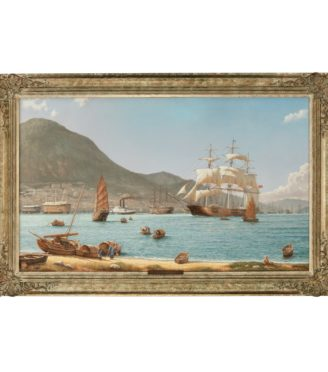 The Challenger Arrives off Kowloon Hong Kong, 23 May 1856, by Rodney Charman dated 1989