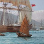 The Challenger Arrives off Kowloon Hong Kong, 23 May 1856, Rodney Charman detail