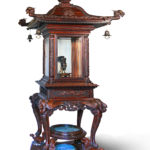 A rare and exceptional Meiji period hardwood exhibition display cabinet.