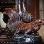 A rare and exceptional Meiji period hardwood exhibition cabinet