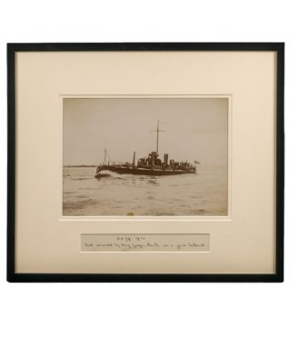 Rare framed albumen photograph of the Royal Navy Torpedo boat No 79