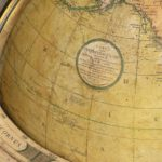 A pair of Cary's 15-inch table globes map details cary stamp