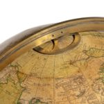 A pair of Cary's 15-inch table globes top detail