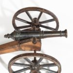 A mid-Victorian model of a field cannon top view