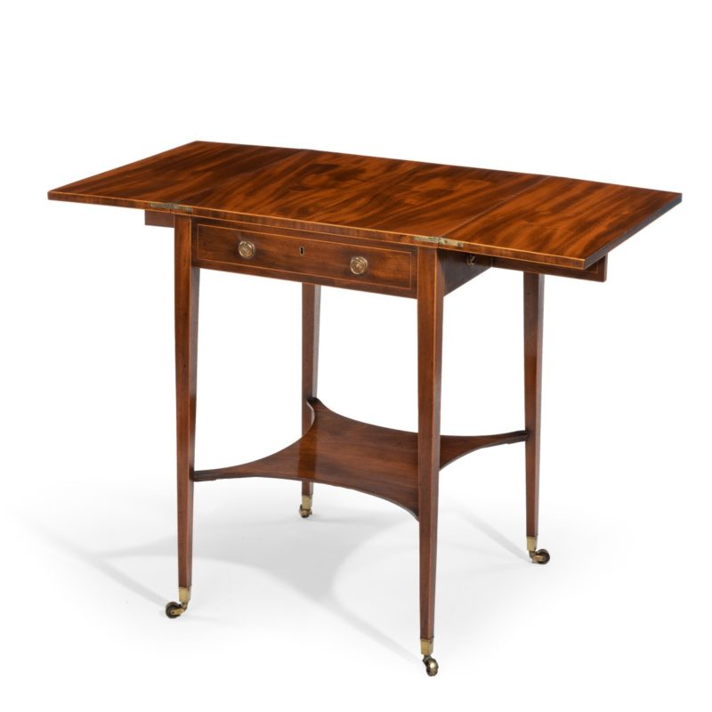 A Sheraton period George III mahogany patience table main