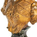 A marble and ormolu bust by Marionnet front detail