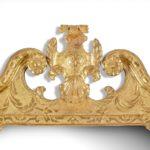George I giltwood mirror detail