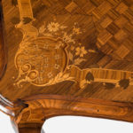 detail of A Napoleon III free-standing rosewood centre table attributed to A Hébert