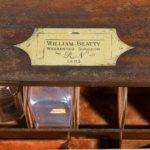 Surgeon Beatty's medicine chest, 1803 plaque