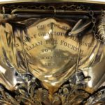 King William IV 46 's cup for the Royal Yacht Squadron, 1835 closeup gold engraving