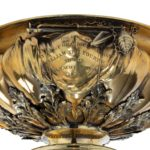King William IV 46 's cup for the Royal Yacht Squadron, 1835 gold engraving
