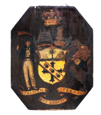 Admiral Lord Nelson's armorial panel from his personal carriage