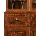 A late George III mahogany secretaire bookcase attributed to Gillows detail