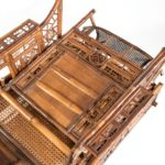 Chinese Export 'Brighton Pavilion' day bed close up