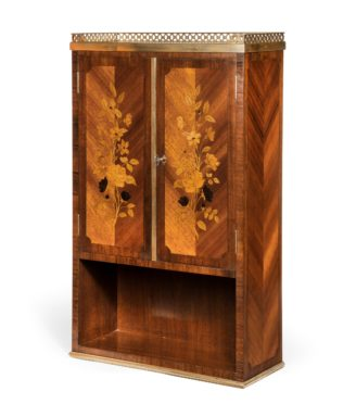 A French rosewood wall cabinet by G Durand