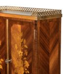 A French rosewood wall cabinet by G Durand side detail