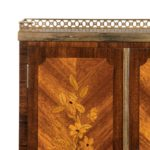 A French rosewood wall cabinet by G Durand details