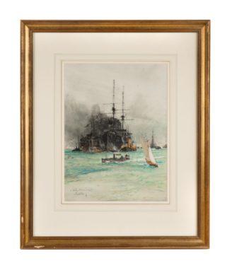 Charles Edward Dixon 'Coaling, Portsmouth Harbour',