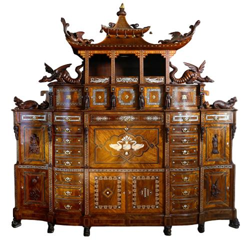 An important Orientalist exhibition cabinet, 1860