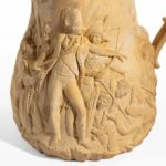 A 'Sir Sidney Smith' biscuit ware jug showing the defence of Acre