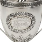 George III Lloyds Patriotic Fund silver and silver gilt vase and cover by Samuel Hennell inscribed