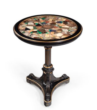 A Victorian specimen marble table by Gillow & Co, 1878