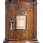 A Victorian oak country house letterbox