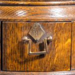 A Victorian oak country house letterbox by Rodrigues handle