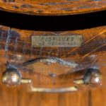 A Victorian oak country house letterbox by Rodrigues stamp