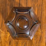 A Victorian oak country house letterbox by Rodrigues top