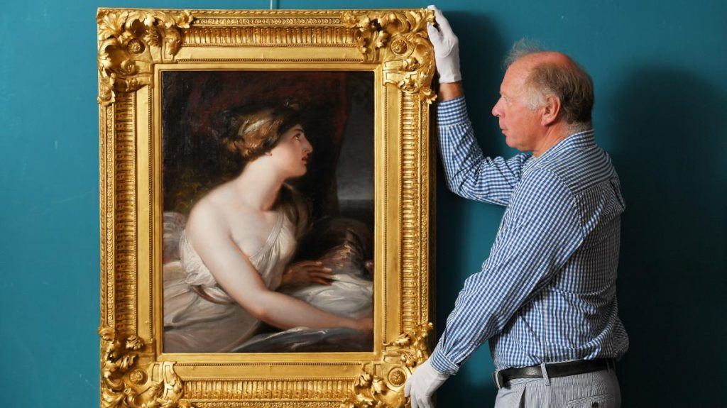 The oil painting was taken to Charles Wallrock, an antique dealer in Hampshire ZACHARY CULPIN/BNPS