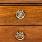 A Regency mahogany dressing table close up