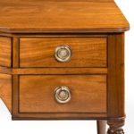 A Regency mahogany dressing table close up side