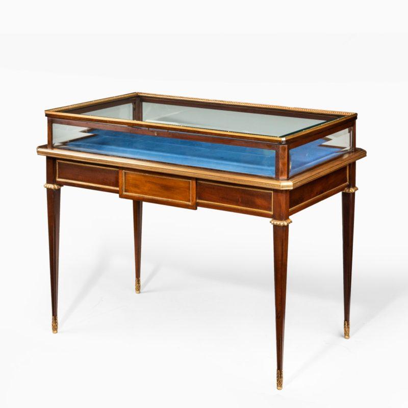 A Napoleon III free-standing mahogany bijouterie cabinet