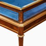 A Napoleon III free-standing mahogany bijouterie cabinet corner