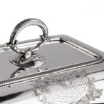 Captain Sir George Collier's presentation silver entree dishes and covers by Richard Cooke handle
