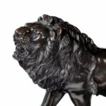 A Meiji period bronze study of a lion