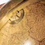 A 12 inch Franklin terrestrial table globe by Nims & Co, New York top