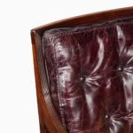 A Regency mahogany Bergère chair close up