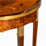A French demi-lune rosewood bow and arrow table by Georges-François Alix detail